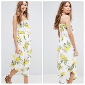 Moon River Lemon Midi Bow Dress NEW